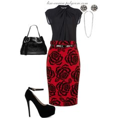"""""""Red Black Floral Classic"""" by lisa-eurica on Polyvore"""