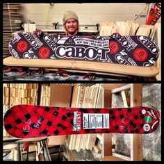 If his two favorite things are cheese and hitting up Bromley Mountain, he'll love this Cabot snowboard!