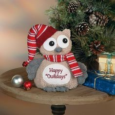 IN-13612772 Plush Christmas Owl 1 Piece(s) #Unbranded