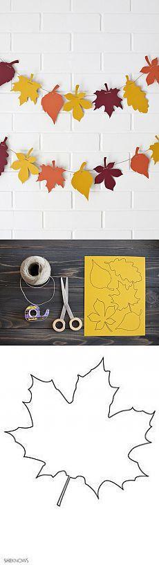 Гирлянда из бумажных листьев