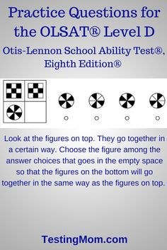 109 Best Olsat Test Otis Lennon School Ability Test Free
