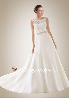 Newly Arrival A-line Bateau Backless Wedding Dress