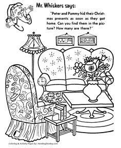 Hidden Christmas Presents Activity Sheet