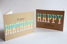 Rotkehlchen: DIY: Masking Tape Birthday Cards