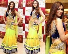 esigns 2014 South India Fashion /// Stunning Bridal Lehenga by Neeru's Celebrity Sarees, Designer Sarees, Bridal Sarees, Latest Blouse Desig...