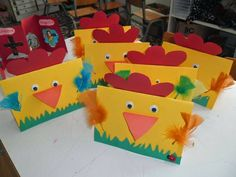 Easter chick craft idea We prepared a good story about Easter. Easter Arts And Crafts, Bunny Crafts, Easter Crafts For Kids, Spring Crafts, Farm Animal Crafts, Dinosaur Crafts, Farm Animals, New Year Coloring Pages, Art N Craft