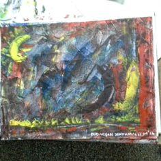 Creation series,  medium acrylics on canvas, size 8in X 12in, 2016 artist sudarsan yennamalli. Copyright 2016.