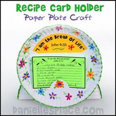 Paper Plate Recipe Card Holder Bible Craft for Children's Sunday School from www.daniellesplace.