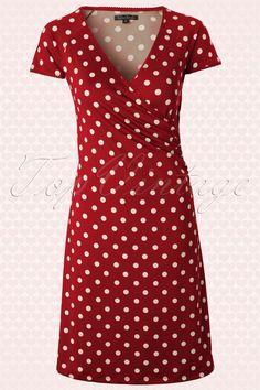 King Louie - 50s Polkadot Cross Dress in Lipstick Red Partypolka