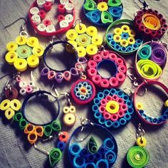 simple crafts making: Quilling Earrings: Simple and Pretty too