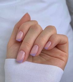 Frensh Nails, Chic Nails, Stylish Nails, Nail Manicure, Swag Nails, Manicure Ideas, Pink Tip Nails, Casual Nails, Manicure Colors