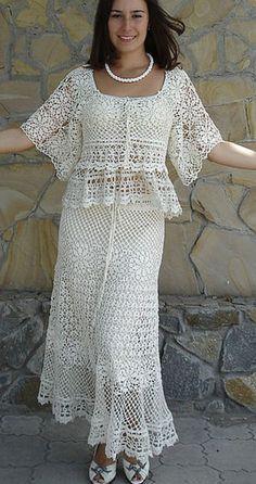 Linene Crochet Lace Suit