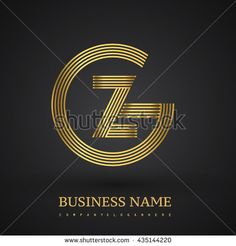 Letter GZ or ZG linked logo design circle G shape. Elegant gold colored letter symbol. Vector logo design template elements for company identity. - stock vector