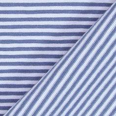 Jersey Coloured Stripes 1 - Baumwolle - Elasthan - blaugrau