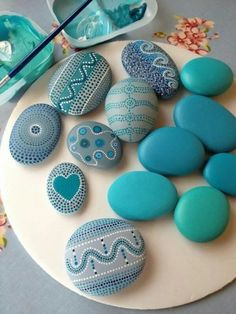 I don't know why anyone would paint and design some rocks, but these are very pretty