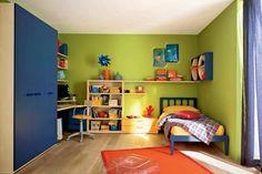 Een voorbeeld van een kinderkamer interieur, mooie kleuren Childrens Bedroom Furniture, Bedroom Furniture Sets, Home Bedroom, Bedroom Ideas, Bedrooms, Bunk Beds, Corner Desk, My House, Home Decor