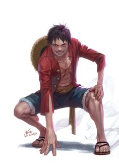ONE PIECE - Monkey.D.Luffy , In-Hyuk Lee on ArtStation at https://www.artstation.com/artwork/one-piece-monkey-d-luffy