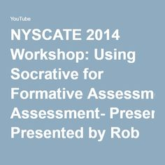 NYSCATE 2014 Workshop: Using Socrative for Formative Assessment- Presented by Rob Zdrojewski - YouTube