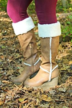 Whipping Post Fur Wedge Boot $94.99 #SouthernFriedChics