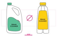 Don't mix two different drain cleaners together (or even use one right after the other) because it might cause an explosion!