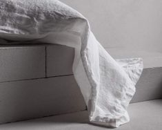 By Bedouin Societe The MINERALE pure linen sheeting collection is the outcome of a vintage wash artisan process which achieves a lovely powdery matte finish. The process relaxes the fibres to produce a soft handle and highlights the subtle colour palette that is a signature and is unique to bedouin SOCIETE. This range Sleep Rituals, Linen Bedding, Bed Linen, Flax Plant, Sleep Quality, Good Night Sleep, Highlights, Artisan, Palette