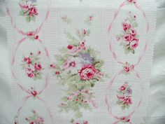 Vintage Rose Barkcloth