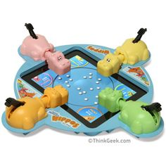 Electronic Hungry Hungry Hippos for iPad. Would you let your kids play that one.. Hmmm #fb