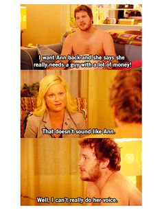 parks and recreation. chris pratt. thank you baby jeebus.