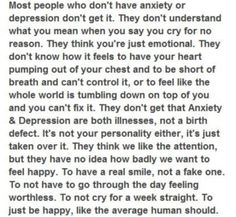 Anxiety and depression... //<3