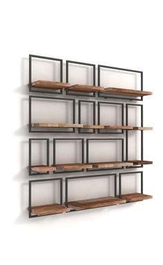 Archive Portfolio-Shelfmate in 2020 Metal Furniture, Home Decor Furniture, Wall Shelves, Shelving, Diy Room Decor, Bedroom Decor, Wall Decor, Regal Design, Salon Interior Design