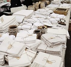 Be still my beating heart! Where would you ever find this much linen in one location?