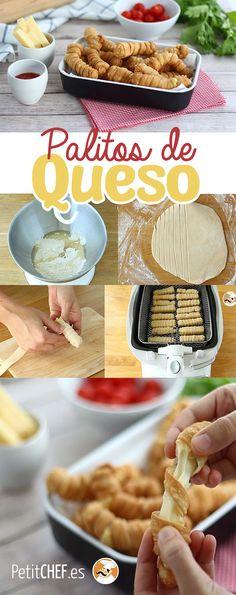 Queridos amigos amantes del queso, esta nueva receta os va a encantar! Crujiente por fuera, fundido por dentro... todo lo que nos gusta! :D #palitos #queso #cheese