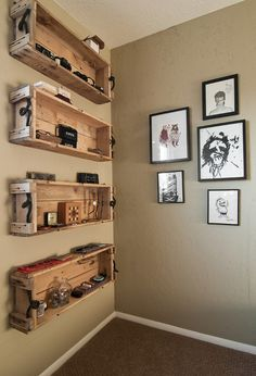 eclectic  by Lucy Call: Recycle material transform to open hanging cabinet