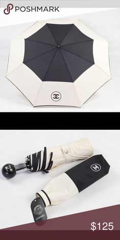 Exclusive Chanel Umbrella Exclusive gift from Chanel. Beautiful item! You can still be a fashionista even though it's raining! Great for sun protection too. Opens up with the touch of a Chanel button. No carry bag or box. CHANEL Accessories Umbrellas