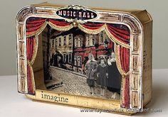 Music Hall Shadow Box Tutorial