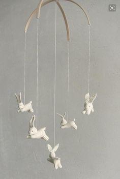 Nursery mobile /baby mobile / bunny mobile / rabbit mobile / made to order