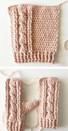 Daisy Farm Crafts Crochet Mittens Pattern Crochet Cable Crochet Mittens Free Pattern