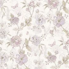 "Butterfly Peony Trail Vintage 33' x 20.5"" Floral 3D Embossed Wallpaper"