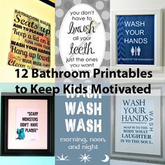 Free Printable Wall Art | Bathroom Decor for Kids' Morning Routine