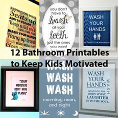 Free Printable Wall Art | Bathroom Decor for Kids' Morning Routine
