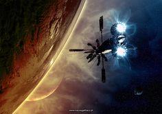 concept ships: Spaceship art by Maciej Garbacz