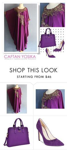 """""""CAFTAN YOSIKA #3"""" by albinnaflower ❤ liked on Polyvore featuring Dasein and Nine West"""