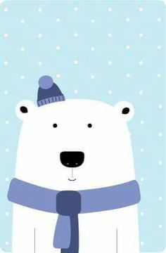 Warmed up Polar Bear Illustration Noel, Winter Illustration, Polar Bear Illustration, Safari Nursery, Nursery Art, Kids Room Art, Art For Kids, Animal Drawings, Cute Drawings