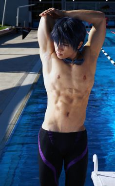 Free! Haruka - Tricep Stretch by AmenoKitarou.deviantart.com on @deviantART