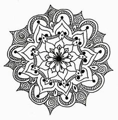 Mandalas For Painting: Flower Mandalas