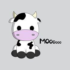 Shop Cute kawaii cow cartoon kids round sticker created by pixxart. Cute Kawaii Animals, Cute Animal Drawings Kawaii, Cute Little Drawings, Cute Easy Drawings, Cute Cartoon Animals, Cute Halloween Drawings, Cute Kawaii Girl, Kawaii Diy, Kawaii Room