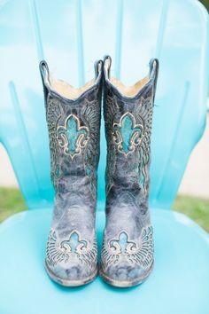 something blue cowboy boots