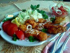Montenegrói rántott pulykamell csíkok Tandoori Chicken, The Hobbit, Meat, Ethnic Recipes, Hobbit