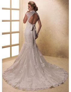 wedding dresses fit and flare with capped sleves | it-and-flare-lace-ivroy-white-wedding-dresses-22843.jpg