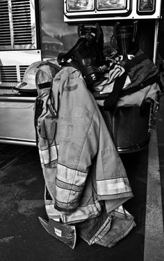 Picture of my husband's firefighting gear